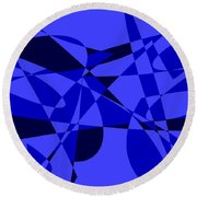 Abstract 153 Round Beach Towel