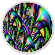 Abstract 155 Round Beach Towel