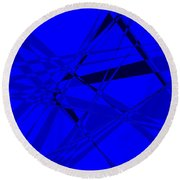 Abstract 156 Round Beach Towel by J D Owen