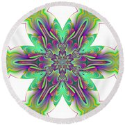 Abstract 156 Round Beach Towel