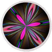 Abstract 157 Round Beach Towel