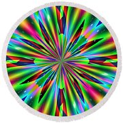 Abstract 158 Round Beach Towel