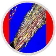 Abstract #16 Round Beach Towel