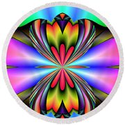 Abstract 160 Round Beach Towel