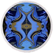 Abstract 162 Round Beach Towel