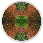 Abstract 164 Round Beach Towel