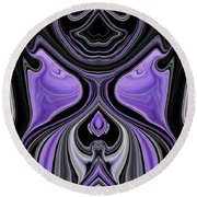 Abstract 166 Round Beach Towel
