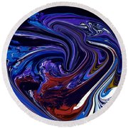 Abstract 170 Round Beach Towel by J D Owen