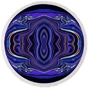 Abstract 172 Round Beach Towel by J D Owen
