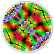 Abstract 172 Round Beach Towel
