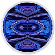 Abstract 175 Round Beach Towel