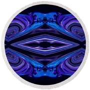 Abstract 176 Round Beach Towel