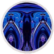 Abstract 178 Round Beach Towel by J D Owen