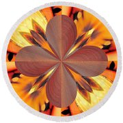 Abstract 180 Round Beach Towel