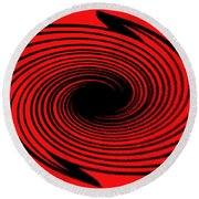 Abstract #2 Round Beach Towel