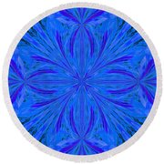 Abstract 206 Round Beach Towel
