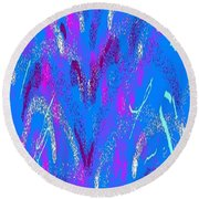 Abstract #22 Round Beach Towel