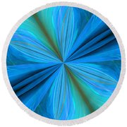 Abstract 221 Round Beach Towel