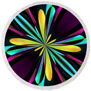 Abstract 222 Round Beach Towel