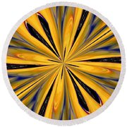 Abstract 227 Round Beach Towel