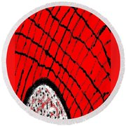 Abstract #23 Round Beach Towel
