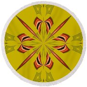 Abstract 234 Round Beach Towel