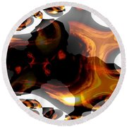 Abstract 236 Round Beach Towel