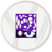 Abstract #24 Round Beach Towel