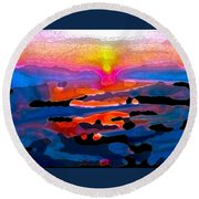 Abstract 242 Round Beach Towel