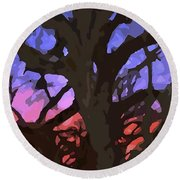 Abstract 284 Round Beach Towel