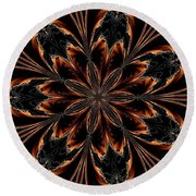 Abstract 288 Round Beach Towel