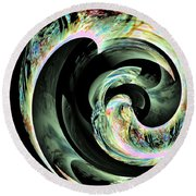 Abstract 291 Round Beach Towel