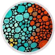 Mosaic Art - Abstract 3 - By Sharon Cummings Round Beach Towel