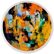 Abstract 315002 Round Beach Towel