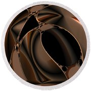 Abstract 339 Round Beach Towel