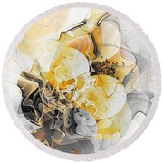 Abstract 393-08-13 Marucii Round Beach Towel