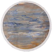 Abstract 408 Round Beach Towel