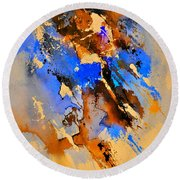 Abstract 4110212 Round Beach Towel