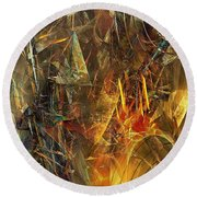 Abstract 412-08-13 Marucii Round Beach Towel
