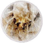 Abstract 414-08-13 Marucii Round Beach Towel