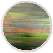 Abstract 417 Round Beach Towel