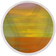 Abstract 418 Round Beach Towel