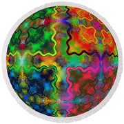 Abstract 42 Round Beach Towel