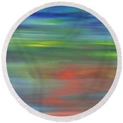 Abstract 421 Round Beach Towel