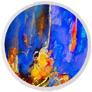 Abstract 434180 Round Beach Towel