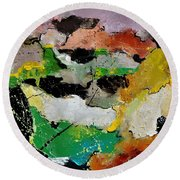 Abstract 44501 Round Beach Towel