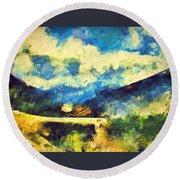 Abstract 46 Round Beach Towel