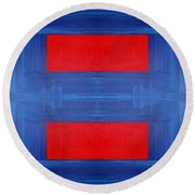 Abstract 477 Round Beach Towel