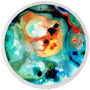 Abstract 5 - Abstract Art By Sharon Cummings Round Beach Towel