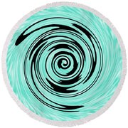 Abstract #5 Round Beach Towel